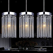 Modern  3 Lights Pendant With Glass Rod