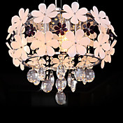 Korean Style  5 Lights Chandelier Decorated With Flowers