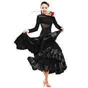 Ballroom Dancewear Viscose With Lace Latin Dance Top For Ladies