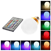 E27 5W RGB Golden Shell Light Remote Controlled LED Ball Bulb (85-265V)