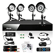 Zmodo 4 CH DVR Outdoor 600TVL CCTV Home Surveillance Security Camera System