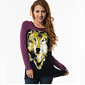 Fitspace Women's Animal Print T Shirt Black
