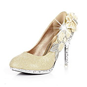 Classical Fabric Stiletto Heel Pumps With Rhinestone