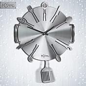 Dinnerware Style Aluminum Wall Clock