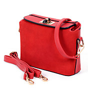 AITA Women's Red Candy Color Nubuck Leather Shoulder Crossbody Bag