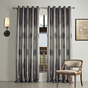 (One Panel Grommet Top) Traditional Geometric Print Blackout Curtain