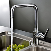 Sprinkle® Contemporary Chrome Finish Brass Ceramic Valve Kitchen Faucet