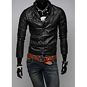 Men's stand collar pu fasion jacket