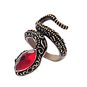 Viennois Retro-Brone Red Snake Cocktail Ring
