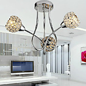Modern Shining 3 Light Flush Mount In Crystal Design (220V-240V)