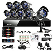 Zmodo 8 CH DVR Outdoor 600TVL CCD 65ft IR CCTV Security Surveillance Camera System