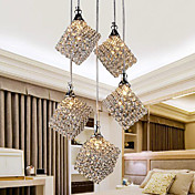 Modern Glittering 5 Light Pendant In Crystal Design (220V-240V)