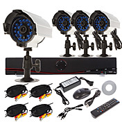 Home Security System 8CH D1 DVR Kit (4pcs 700TVL IR-cut Outdoor Waterproof Camera system, HDMI, USB 3G Wifi)