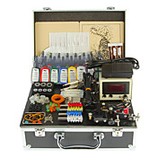 Professional Body Art Tattoo Kit With Machine Power Supply Needle Tips Ink Grip