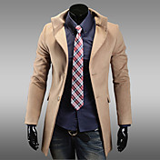Men's lapel single breasted stylish trench coat