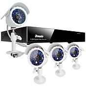 Zmodo 8 CH Channel CCTV DVR Home Security System 4 Outdoor 600TVL CMOS Camera