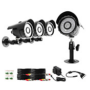 Zmodo 4 Bullet Outdoor Sony CCD 600TVL Night Vision CCTV Surveillance Security Camera Kit