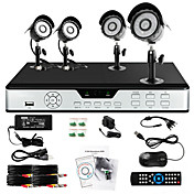 Zmodo 4 Outdoor CCD 600TVL 65ft IR CCTV Home Surveillance Security Camera System