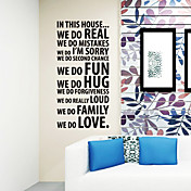We Do Love Words Wall Stickers