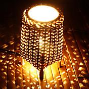 Country Bamboo Night Lamp