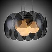 Characteristic Creative 3 Light Pendant with Glass Shade