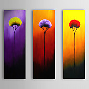 Hand Painted Flowers Oil Painting Floral with Stretched Frame Set of 3 1309-FL0979