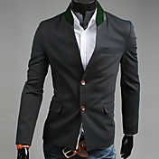 REVERIE UOMO Men's Black 2013 Autumn New Model Korean Single Breast Slim Fit Tweed Suit