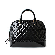 XFL Women's Black Western Style Small Check Sheel Shoulder Bags (Pu Leather /L;31,W;15.5,H;23CM)