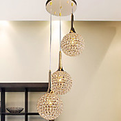 Modern Golden 3 Light Pendant (220V-240V)