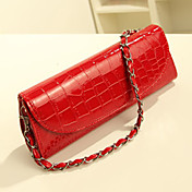 Fashion Solid Color Chain Crossbody Bag