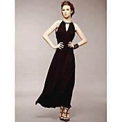 Four-Season Trees Fashion Halter Neck Long Party Dress/Wedding Dress(Diamond Of Collar Random)