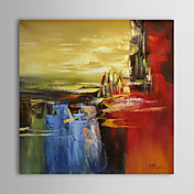 Hand Painted Oil Painting Abstract Whaterfall with Stretched Frame 1309-AB1012