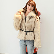 Neweisi New Style Fur Coat With Belt Random