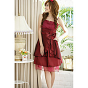 Holiday Lady Women's Gorgeous Wine Strapless Bow Dress