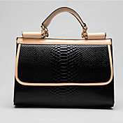 FEILIMEI Refined Contrast Color Shoulder Bag/Tote(Black)