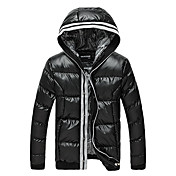 JNE·FOX Men's High Quality Thicken Padded Coat(Black)