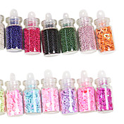 48 Colors Glass Bottled Nail Art Decoration Random Models