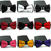 Solid Color Men's Self-Tied Bowtie