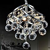 9W LED 26cm Crystal Pendant Light Chandelier Lamp For Living-Room Dining Room