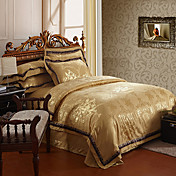4-Piece 350TC Bella Jacquard Floral Duvet Cover Set