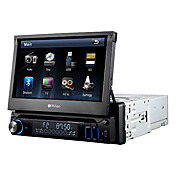 7 Inch 1Din In-Dash Car DVD Player Support iPod,Bluetooth,RDS,Touch Screen