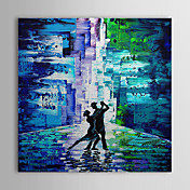 Hand Painted Oil Painting People Dancing with Stretched Frame 1309-PE1010