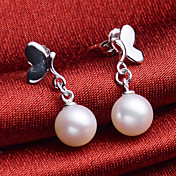 Hanazo 7-8mm Natural Pearl Earrings EA0087W021270