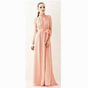 Fashiongirl Women'S Shoulder Off Stand Collar Pink Long Dress