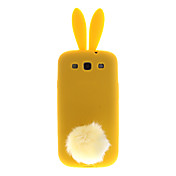 New Arrival Cute Bunny Rabito Rabbit Silicon Solf Case for Samsung Galaxy S3 i9300
