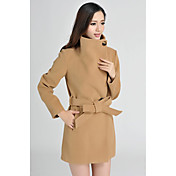 Qiguangzhi Classic Women'sDress Size Long Overcoat(Camel)