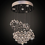 Crystal Flush Mount, 4 Light, Modern Ring Stainless Steel Electroplating