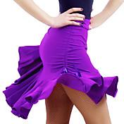 Dancewear Viscose Latin Dance Skirt For Ladies(More Colors)