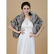 Half Sleeve Faux Fur Party/Casual Shawls