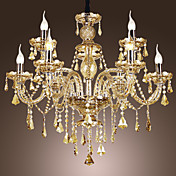 European Style Luxury 9 Light Chandelier Candelabra With Crystal In Christmas Tree Shape